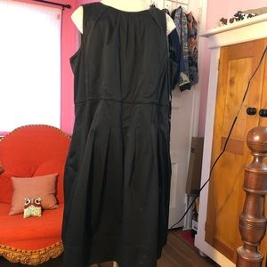 Talbots 20W black cotton dress